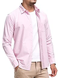 Men's Classic Casual Fit Long Sleeve Cotton Oxford Shirt