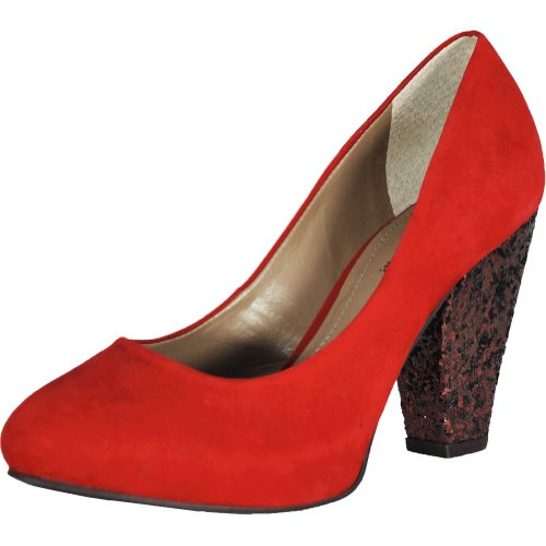 Bruno Menegatti 001PO Women's Red Pompadour Leather Pump 7 US