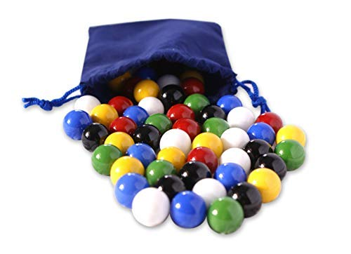 AmishToyBox.com Bag of 60 Glass Marbles for Chinese Checkers, 5/8