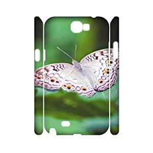 3D Cases for Samsung Galaxy Note 2, Butterfly 74 Cases for Samsung Galaxy Note 2, Evekiss White