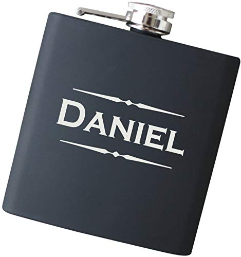 - Engraved Custom Name Flask with Free Personalization - Your Choice of Colors, 6 oz Stainless Steel Flask Drinkware - F25