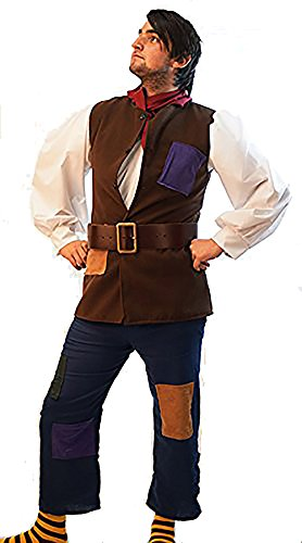 Stage-Shows-Panto Quality-World Book Day-Jack and the Beanstalk PANTO JACK Men's Costume - From Teen Size to 4XL (Men: Medium)