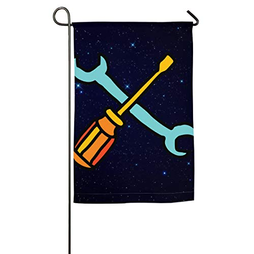 (Handyman Tools Cliparts Garden Flag Graphic Wedding Anniversary Flag Spring Summer Yard Outdoor)