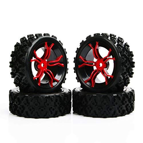 ANTSIR RC 1/10 Rally Racing Off Road Car PP0487+MPNKR Rubber Tires Wheel Rim 4Pcs