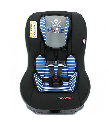 Seggiolino auto gruppo 0+/1 da 0 a 18 kg - Produzione 100% francese - 3 stelle Test TCS - 20 colori - Poggiatesta e seduta imbottiti TEAM TEX 040N09