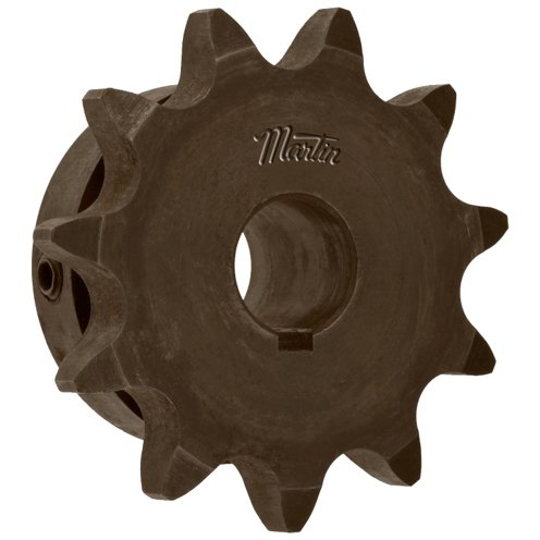Martin Sprocket & Gear 50BS10 1 - Finshed Bore Sprocket - 50/5/8 in, Finished with Keyway, 1 in, 10, Steel ()