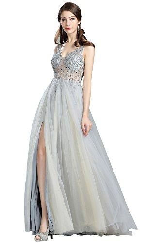 01d1bdf9 eDressit Cheap Grey Sparkly V Cut Beaded Evening Dresses (36180508)