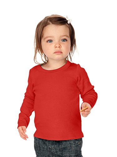 Kavio! Unisex Infants Baby Doll Long Sleeve Top Red 6M