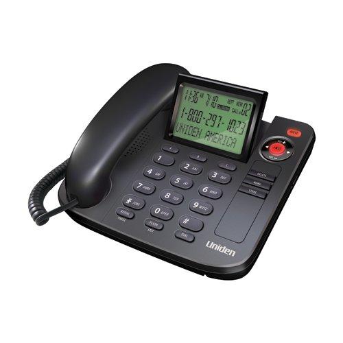 Price comparison product image Uniden 1360BK Desktop Corded Telephone, black, one phone
