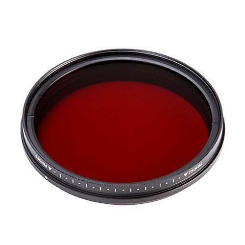 Runshuangyu 77MM Optical Glass Circular Infrared X-Ray Adjustable IR Pass Filter, Variable from 530nm to 750nm 590nm 680nm 720nm for DSLR Camera Photography by Run Shuangyu