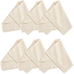 """6 Pack Large Microfiber Cleaning Cloth 8x8"""" - For Eyeglass, Computer Screen, Jewelry, iPhone, Kindle, Camera Lens, Glass, Stainless Steel, Silver and Delicate Surfaces"""