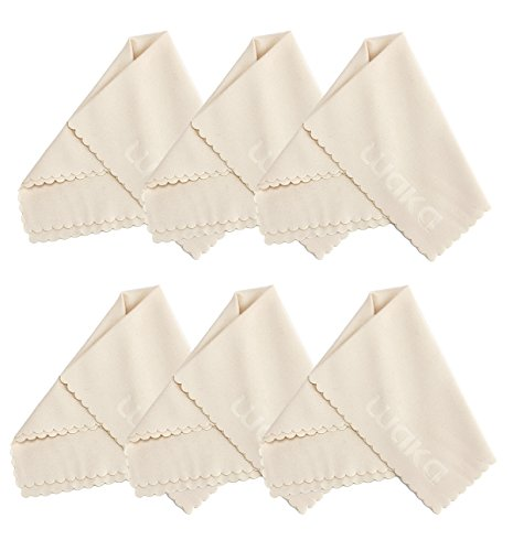 6 Pack Large Microfiber Cleaning Cloth 8x8' - For Eyeglass, Computer Screen, Jewelry, iPhone, Kindle, Camera Lens, Glass, Stainless Steel, Silver and Delicate Surfaces