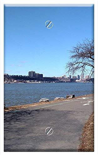 Single-Gang Blank Wall Plate Cover - Riverside Park New York City Spring Travel ()