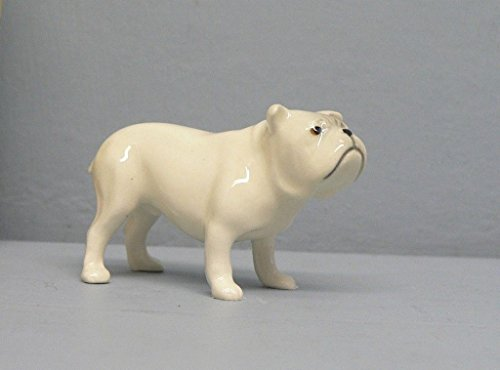 White BULLDOG Stands MINIATURE Figurine Ceramic HAGEN-RENAKER for sale  Delivered anywhere in USA