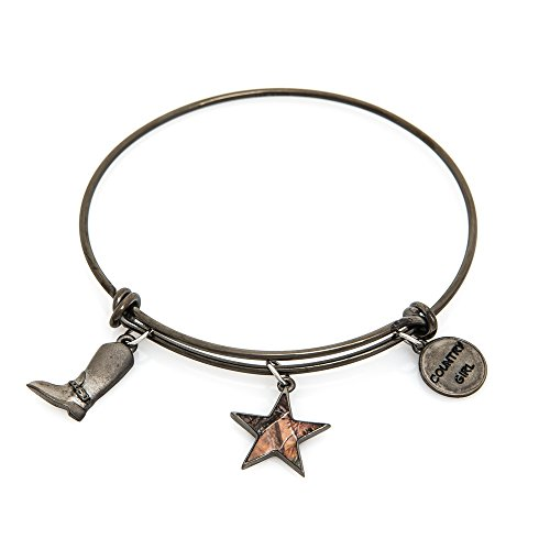 Apg Arrows (Realtree Stacking Charm Bracelet Stainless Steel Gunmetal Country Girl Bangle Bracelet)