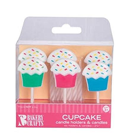 Amazon.com: Oasis Fuente Cupcake titulares de vela con vela ...