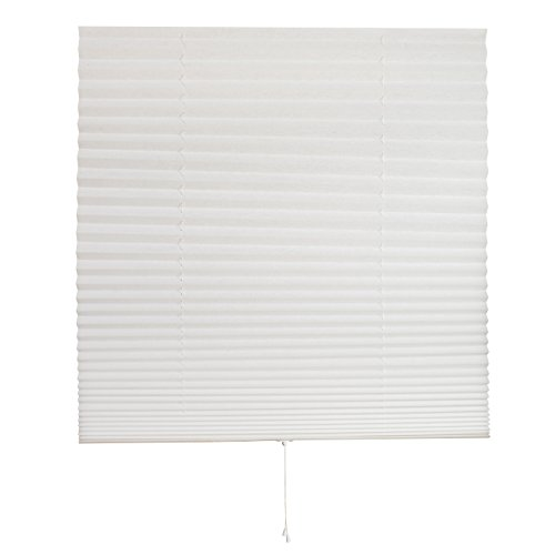 Home Detailerz Customizable Pleated Fabric Window Shade, 36 X 72-Inch, White