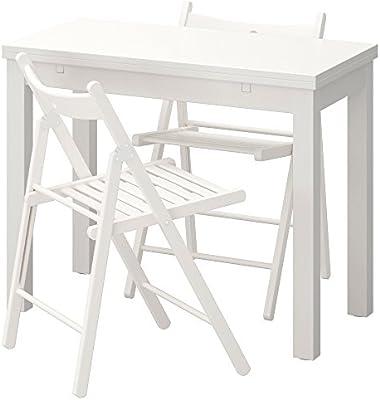 Zigzag Trading Ltd IKEA BJURSTA/Terje - Mesa y 2 sillas Blanco ...