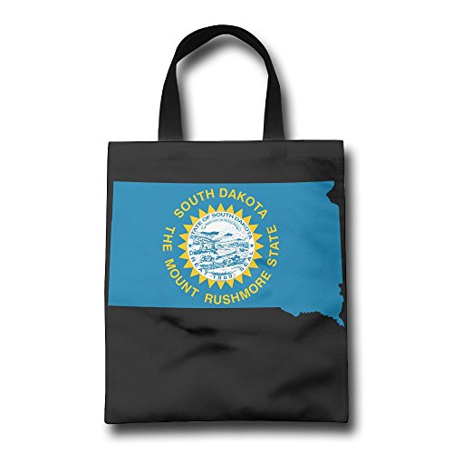 South Dakota Lightweight Foldable Tote Eco Grab Bag Shopping Bag Tote - South Hill Mall