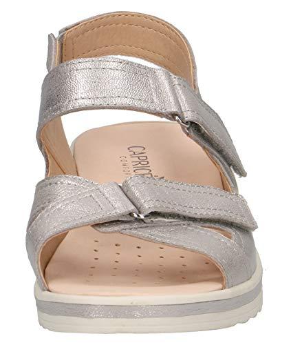 Femme Metal chaussures Sandales plat 920 sandales confortable Caprice 28210 Silver semelle D'été Compensées 22 Intérieure sandales Amovible Compensées xnwqRgFH