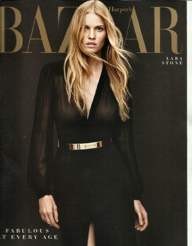 Harpers Bazaar Magazine April 2014 Lara Stone
