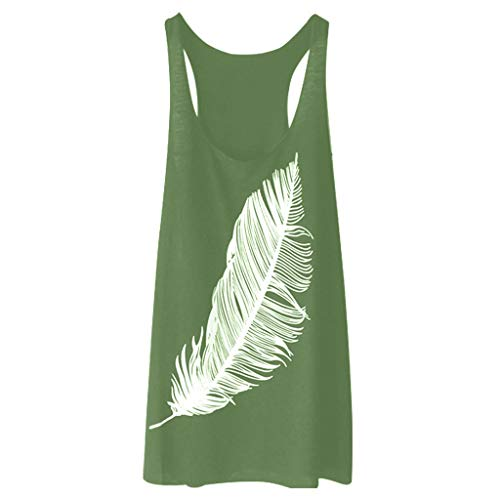 RAINED-Women's Cami Tops Loose Sleeveless Vest Racerback Tank Tops Activewear Workout Yoga Top Gym Fitness Basic Shirt Dark Green