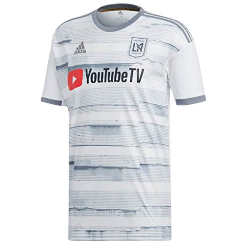 adidas Mens 2019/20 Los Angeles FC LAFC Away Replica Jersey Medium (White/Gray) ()