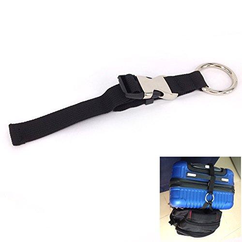 Metal Travel Jacket (Bcony Black Luggage Strap/Jacket holder/gripper/Add-A-Bag/Handbag)