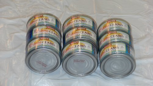 Snow's Ocean Classics Chopped Clams in Clam Juice 6.5 oz. 184g Pack of 9 by Snow's