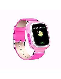 REDLEMON Smartwatch para Niños con Localizador GPS y Perímetro de Seguridad. Entrada para Chip Celular, Llamadas Bidireccionales y de Emergencia, Historial de Ubicaciones, Pantalla Touch, Batería Recargable de Larga Duración, Compatible con Android y iOS. Reloj Inteligente Kids, ROSA