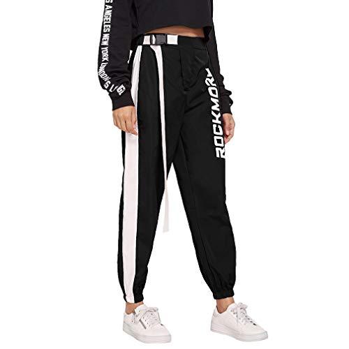 Mujer Pantalones Harajuku Hip Hop Streetwear Pantalones Estilo ...
