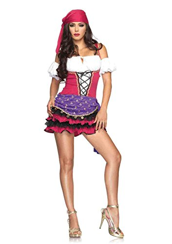 Ball Halloween Gypsy Costume Crystal (3pc. Crystal Ball Gypsy Costume Bundle with Pink)