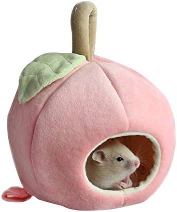 LYU-oag Hamsters Casa de Animales pequeña, diseño de Animales, Felpa de algodón, casa de hámster, Rata hurón, Jaula Hamaca Nido: Amazon.es: Hogar