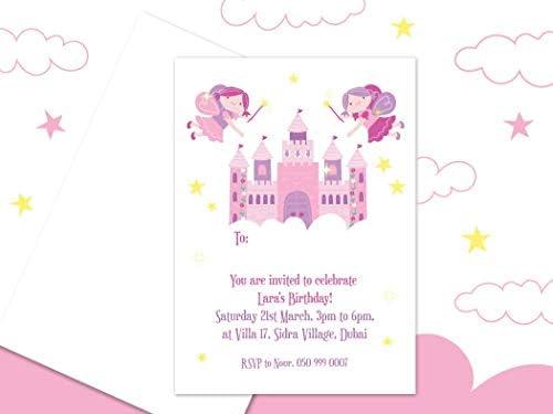 بطاقات دعوة شخصية لعيد الميلاد من إسماك 10 بطاقات دعوة مع اسم الدعوة دعوة الأصدقاء إلى حفلات الأطفال مع حفلة في قلعة الجنية رسوم متحركة مطبوعة تصميم بطاقة دعوة Amazon Ae