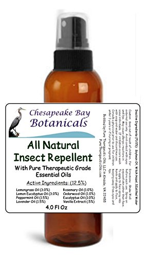 Chesapeake Bay Botanicals All Natural Mosquito And Insect Repellent   Deet Free With Pure Essential Oils