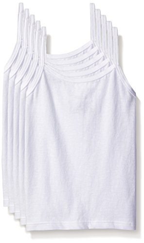 Hanes Girls' Toddler 5-Pack Cotton Cami (Assorted), White, 4T/5T