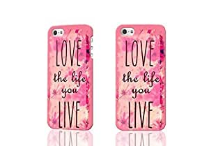 Pink Hipster Love the Life You Live 3D Rough Case Skin, fashion design image custom , durable hard 3D case cover for iPhone 5C , Case New Design By Codystore