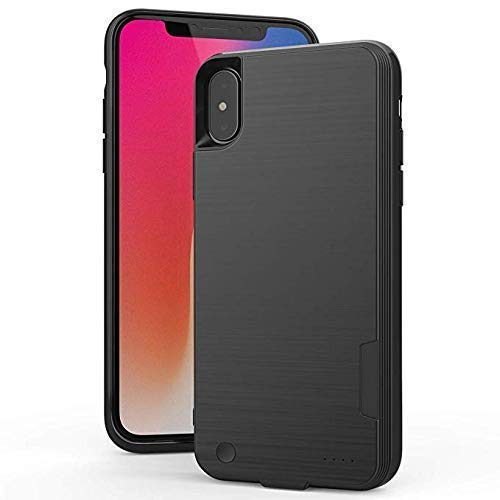 - Rechargeable Protective Backup Charging Case Works Apple Phones 4000mAh Ultra Slim Portable Battery Power Charger Case iPhone X Battery Case - Black