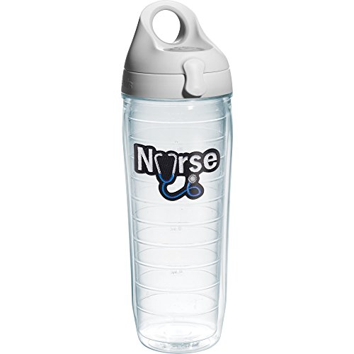 Tervis Nurse Stethoscope Water Bottle with Lid, 24 oz, Clear