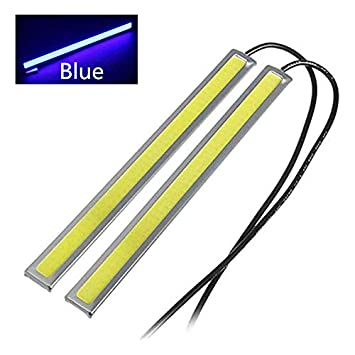 BININBOX 6W Super Bright COB Car LED Lights 12V for DRL Fog Driving Daylight Daytime Running Lamp Waterproof Slim Pack of 2 Green