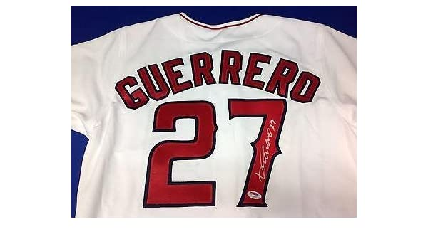 Autographed Vladimir Guerrero Jersey - PSADNA COA  F93550 - Autographed MLB  Jerseys at Amazon s Sports Collectibles Store 92bc7af31