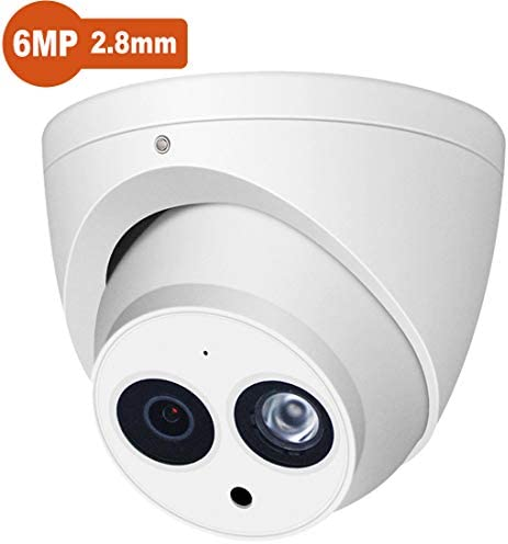 6MP PoE Outdoor IP Camera, IPC-HDW4631C-A 2.8mm Lens, Dome EXIR Turret Security Network Surveillance Camera, Up to 98ft 30m Night Vision, H.265, IP67, ONVIF