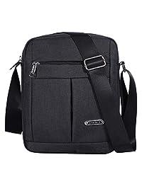 Men's Messenger Bag - Crossbody Shoulder Bags Travel Bag Man Purse Casual Sling Pack for Work Business (1401-2-Black)