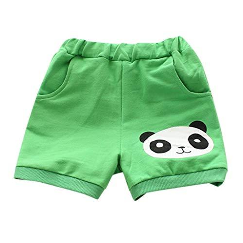 Panda Classic Thong - Baby Boy Girl PP Pants Cartoon Panda Casual Sweatpants Shorts Elastic Waist Clothes,SIN vimklo Green
