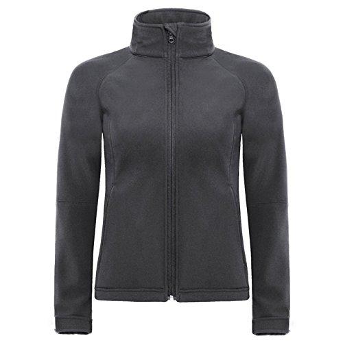 B&C Collection - Sudadera con capucha - para mujer gris oscuro
