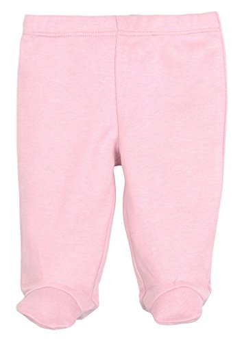 Infants Footed Pant (Dordor & Gorgor Organic Baby Footed Pajamas Pants, Dye Free, 100% Cotton (0-3 Months, Pink))