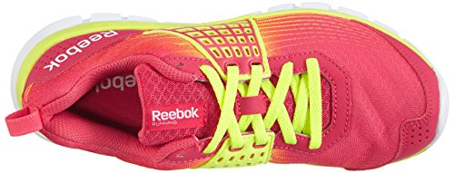 Rot Rojo Mujer Pink blazing Dual Zapatillas Z Yellow Reebok Material Rush solar Running De Para white Sintético wqPSUg