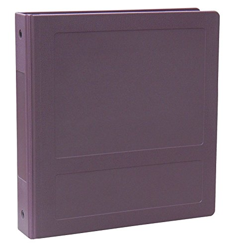 OMNIMED 205009-PM3 Side Open Molded Binder 1 1/2'' - 3 Ring - Plum (1/EA) by Omnimed