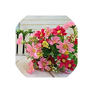 28 Heads Fake Daisy Real Touch Flower Plants Grass Without Pots Silk Artificial Flowers for Wedding Home Decoration,4 18