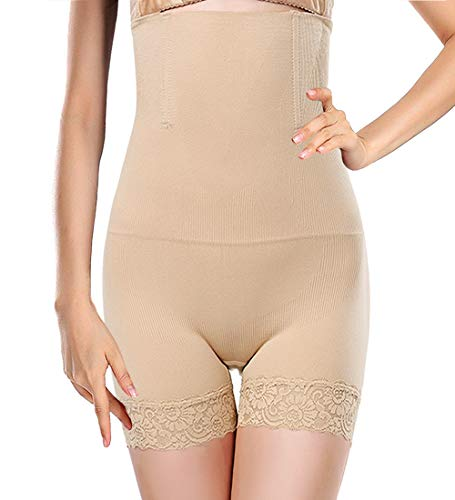 Tummy Control Shapewear for Womens Slimming Panties Brief High Waist Lace Seamless Body Shaper